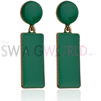 Samantha Green Earrings - TheSwagWorld