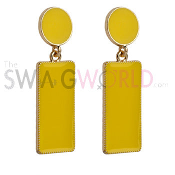 Samantha Yellow Earrings - TheSwagWorld