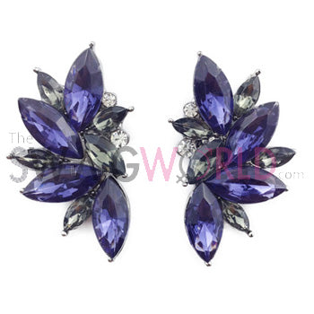 Sophia Purple Earrings - TheSwagWorld