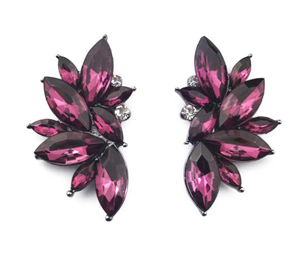 Sophia Magenta Earrings - TheSwagWorld