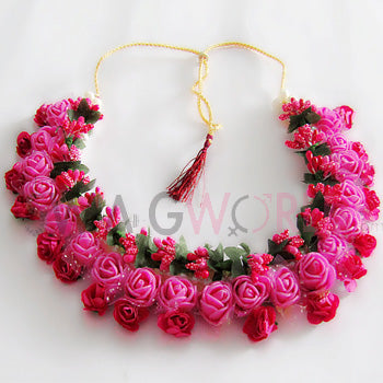 Gulabo Floral Necklace Set - TheSwagWorld