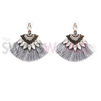 XOXO Grey Earrings - TheSwagWorld