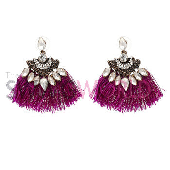 XOXO Magenta Earrings - TheSwagWorld