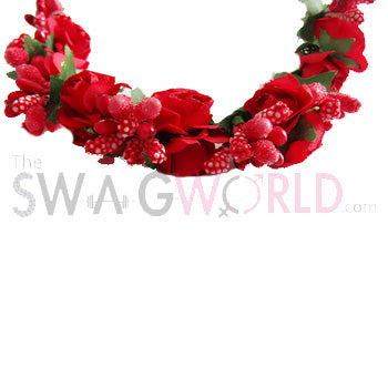 Red Floral Juda Accessory - TheSwagWorld