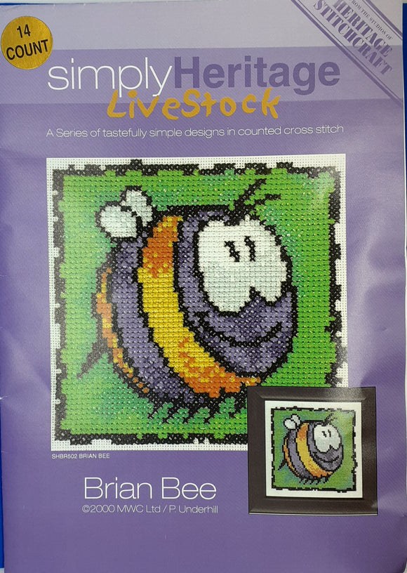 Brian Bee Cross Stitch Kit