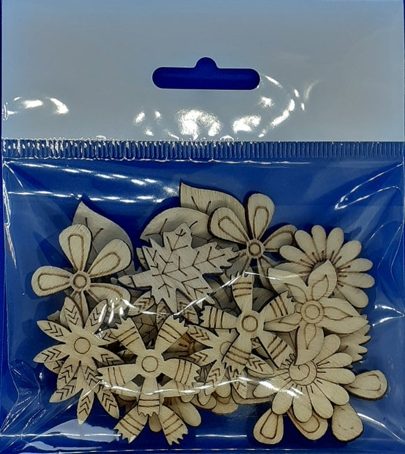 Wooden Embellishments Pack