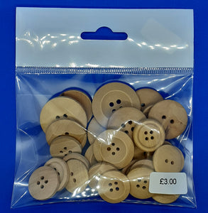 """Natural"" Wooden buttons"