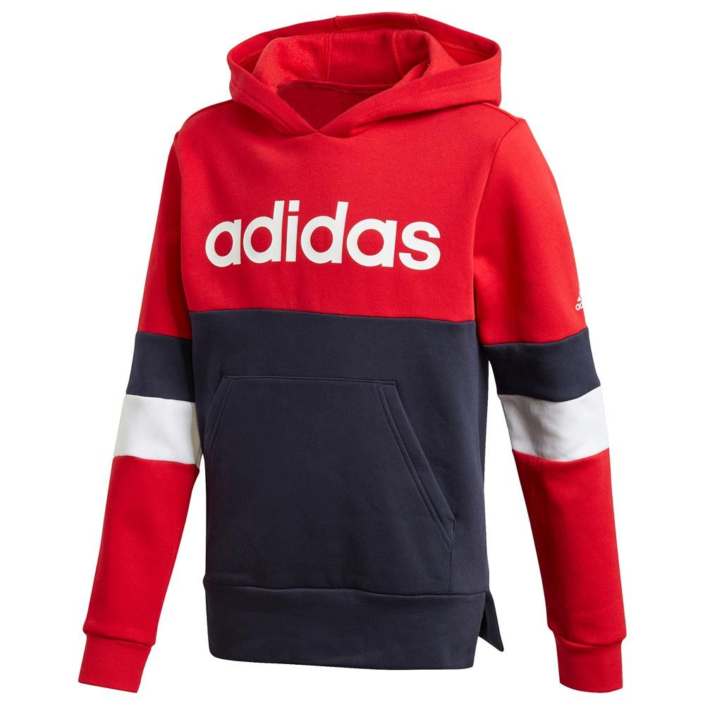 Adidas Boys linear Colorblock Hoodie - Valley Sports UK
