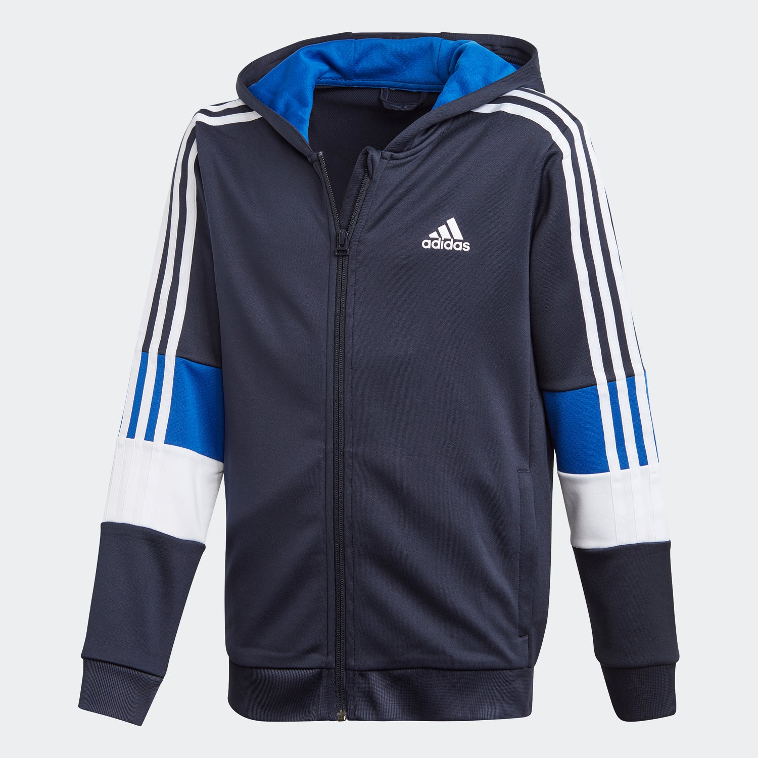 ADIDAS 3-STRIPES FULL-ZIP HOODIE For Kids - Valley Sports UK