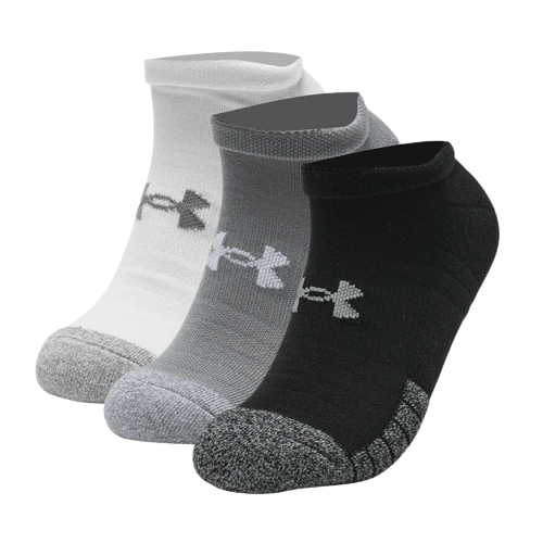 Under Armour HeatGear 3 Pairs No Show Socks