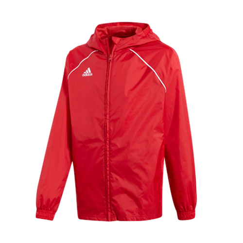 Adidas Boys Core 18 Rain Jacket - Valley Sports UK