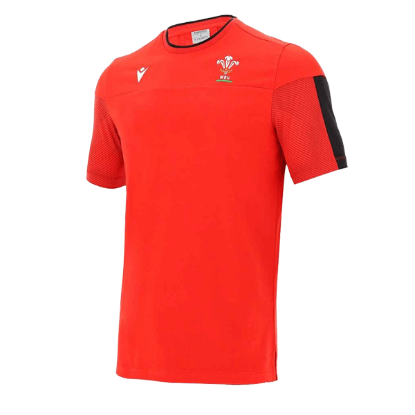 Mens Red Wales Travel Polycotton Tee Shirt - Valley Sports UK