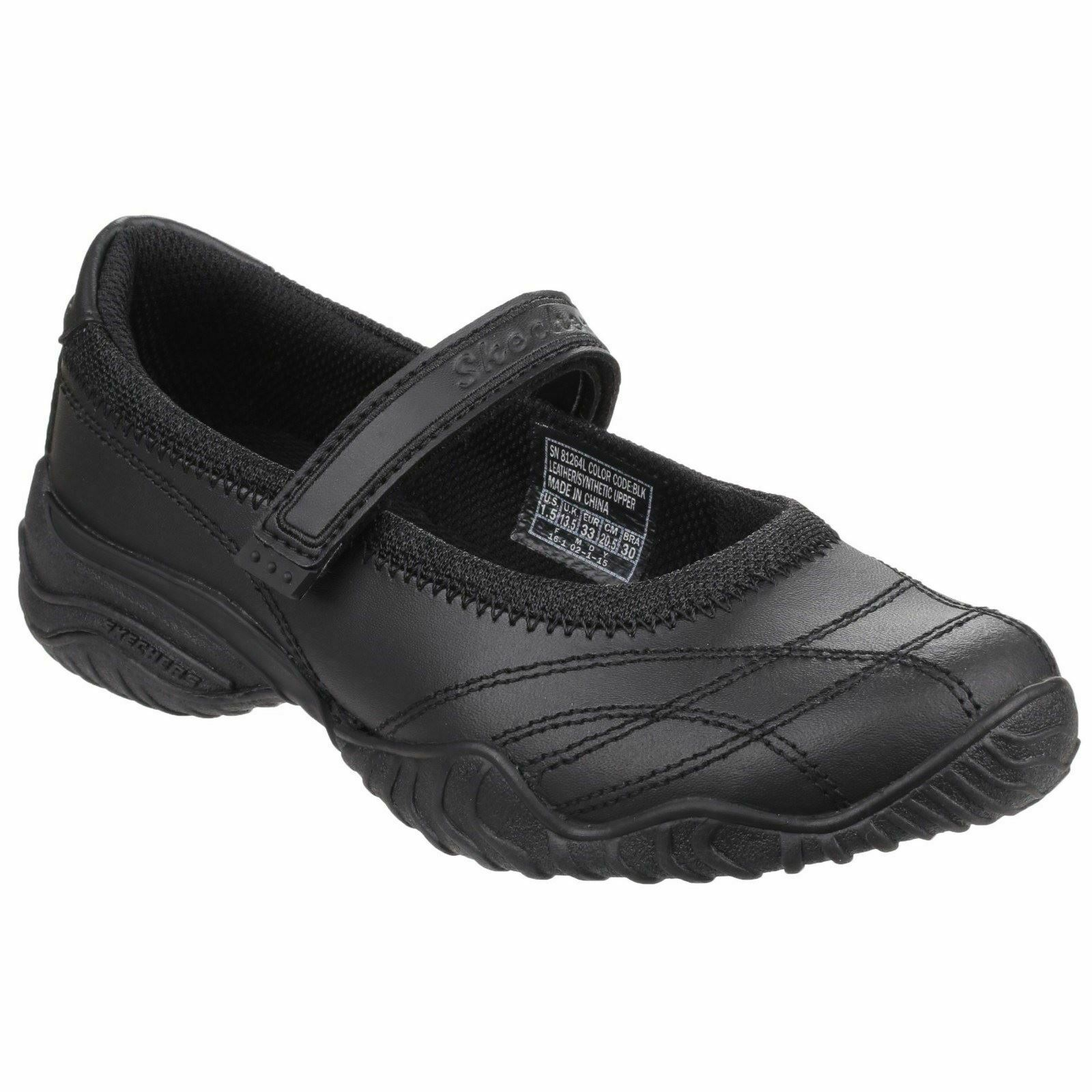 Skechers Black Velocity Pouty Shoes