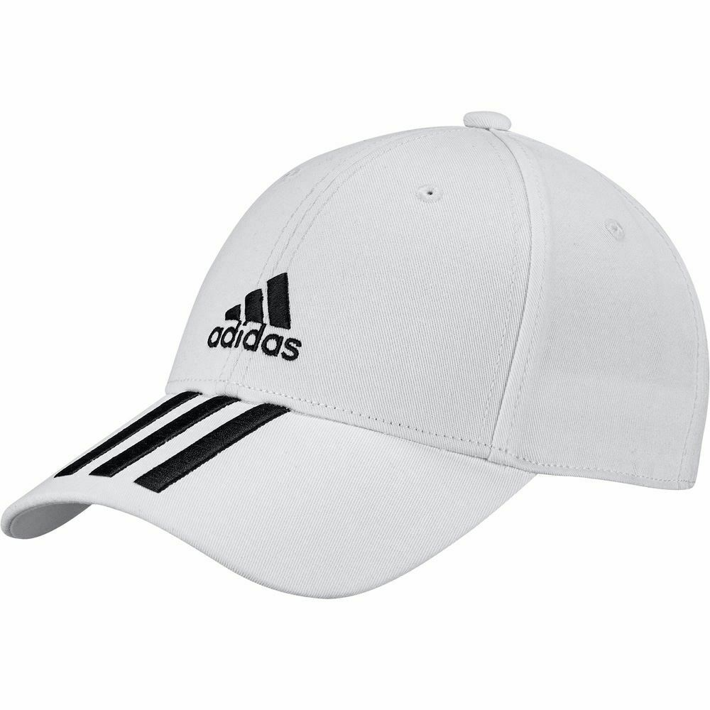 Adidas Baseball 3-Stripes Twill Cap - White/Black - Valley Sports UK