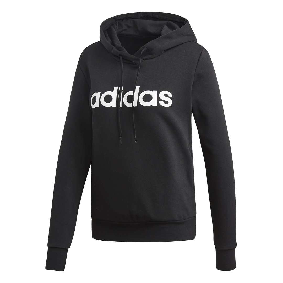 ADIDAS WOMEN LINEAR PULLOVER HOODIE - Valley Sports UK