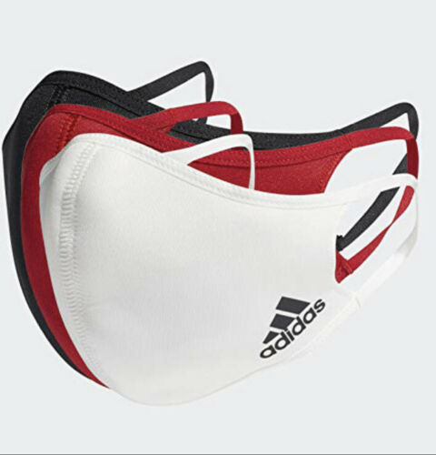 Adidas Unisex Reusable Face Mask 3-Pack Multi Color - Valley Sports UK