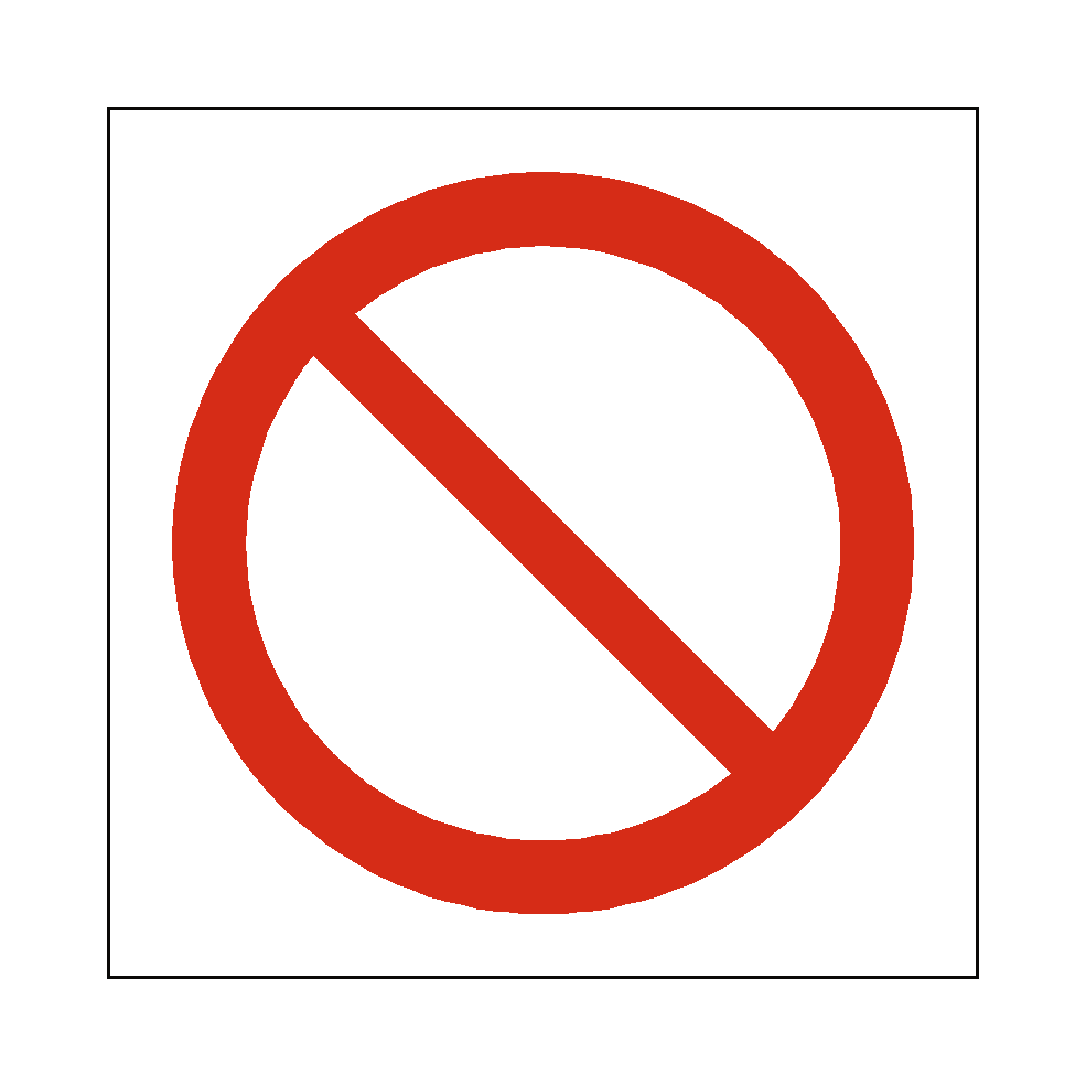 Prohibition Symbol Signs Pvc Safety Signs