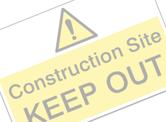 Construction and Building Hazard Signs