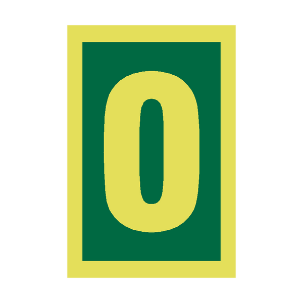 IMO Number 0 Sign Photoluminescent | PVC Safety Signs