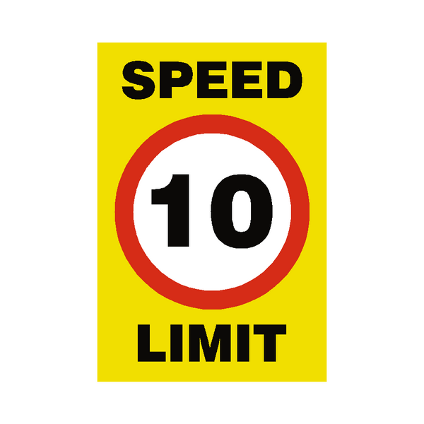 10 Mph Speed Limit Sign | PVC Safety Signs