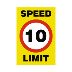 10 Mph Speed Limit Sign | PVC Safety Signs | Health and Safety Signs