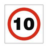 10 Mph Speed Sign - PVC Safety Signs