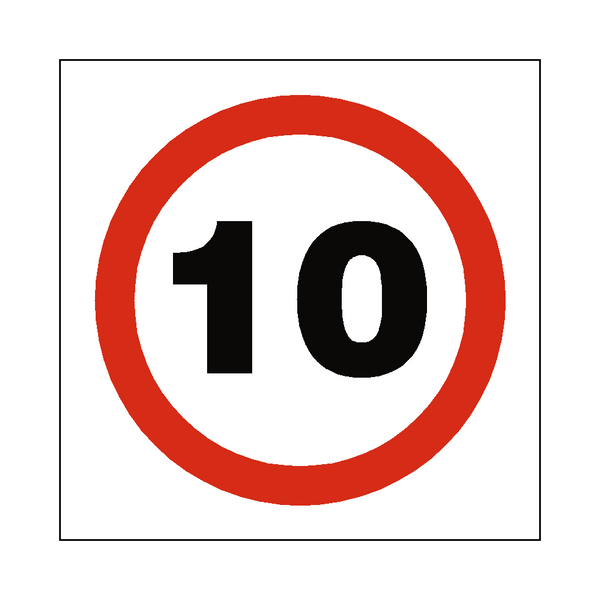 10 Mph Speed Sign | PVCSafetySigns.co.uk