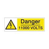 11000 Volts Safety Sign | PVCSafetySigns.co.uk