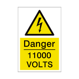 11000 Volts Sign | PVCSafetySigns.co.uk