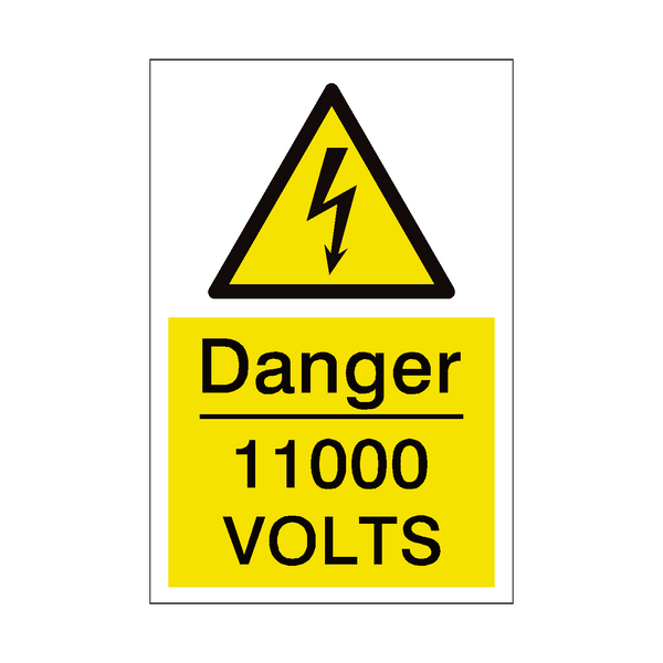11000 Volts Sign | PVC Safety Signs