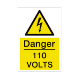 110 Volts Sign | PVCSafetySigns.co.uk
