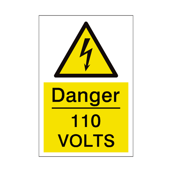 110 Volts Sign | PVC Safety Signs