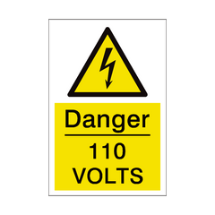 110 Volts Sign | PVC Safety Signs | Health and Safety Signs