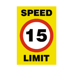 15 Mph Speed Limit Sign | PVC Safety Signs | Health and Safety Signs