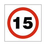 15 Mph Speed Sign - PVC Safety Signs