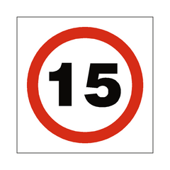 15 Mph Speed Sign