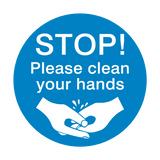 STOP! Please Clean Your Hands Sign | PVC Safety Signs