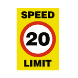 20 Mph Speed Limit Sign | PVC Safety Signs