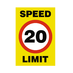 20 Mph Speed Limit Sign | PVC Safety Signs | Health and Safety Signs