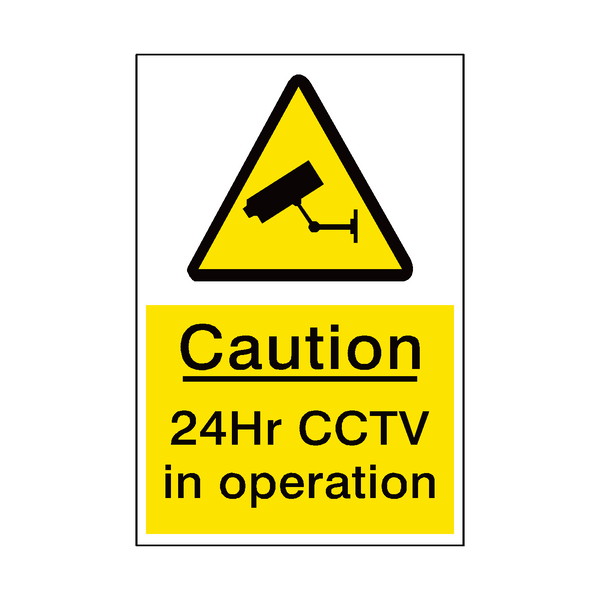 24hr Cctv Sign | PVCSafetySigns.co.uk