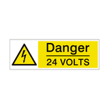 24 Volts Safety Sign | PVCSafetySigns.co.uk