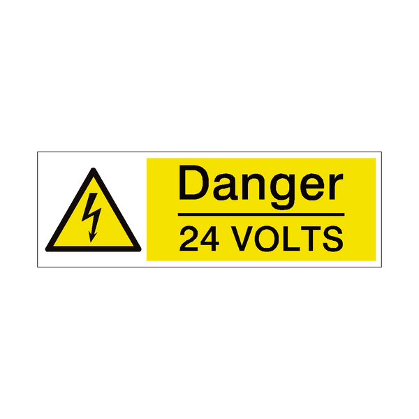 24 Volts Safety Sign | PVC Safety Signs
