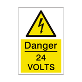 24 Volts Sign | PVCSafetySigns.co.uk