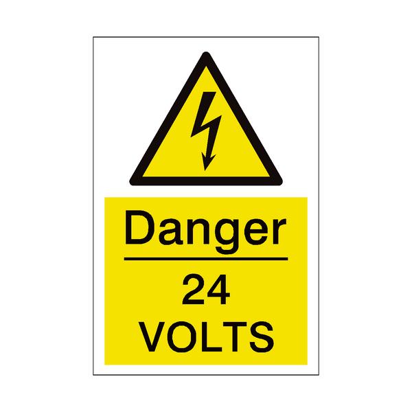 24 Volts Sign | PVC Safety Signs