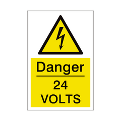 24 Volts Sign | PVC Safety Signs | Health and Safety Signs