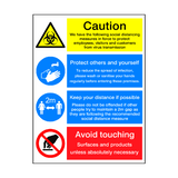 Coronavirus Instructions Retail Sign | PVC Safety Signs