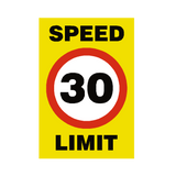 30 Mph Speed Limit Sign | PVCSafetySigns.co.uk