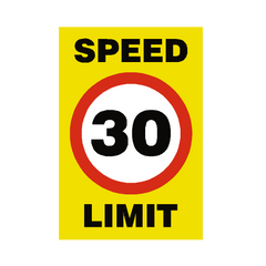 30 Mph Speed Limit Sign | PVC Safety Signs | Health and Safety Signs