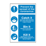 Coronavirus Prevention Sign | PVC Safety Signs