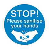 STOP! Please Sanitise Your Hands Sign | PVC Safety Signs